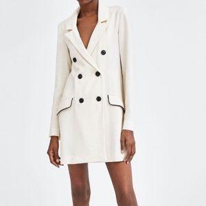 NWT Zara Trf cream blazer Dress M